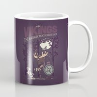 vikings Mugs featuring Vikings by hugraphic