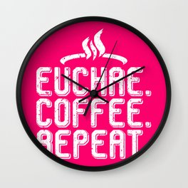 Euchre Player Coffee Fan Card Playing Lovers Cards Deck Gift design Wall Clock