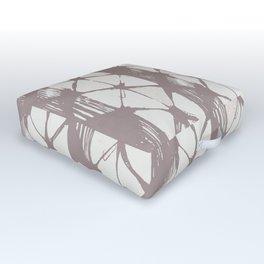 Simply Braided Chevron Red Earth on Lunar Gray Outdoor Floor Cushion