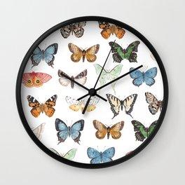 Butterflies & Moths Wall Clock