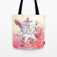 sylveon Tote Bags featuring Sylveon by Jelecy
