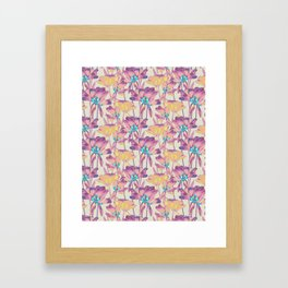 Tulips in Cotton Candy Framed Art Print