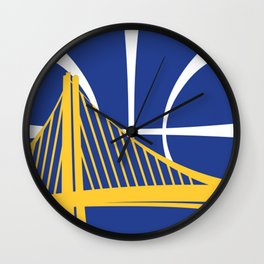 Warriors Logo Wall Clock