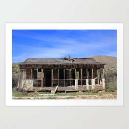 Busted Bunkhouse Art Print