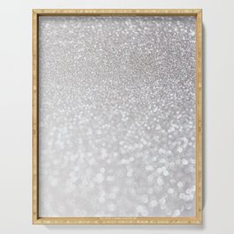 Silver ice - glitter effect- Luxury design Serving Tray