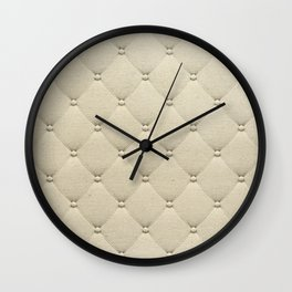 Cream Quilted Wall Clock
