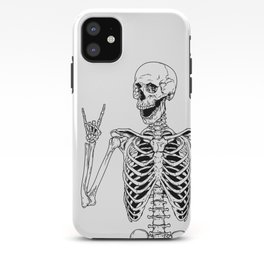 Rock and Roll Skeleton iPhone Case