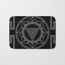 Kali yantra black symbol Bath Mat