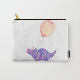 Tie-dye Triceratops Carry-All Pouch
