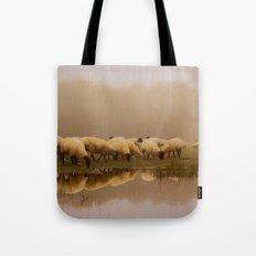 Foggy Sheep Tote Bag