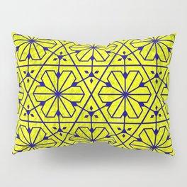 V26 Moroccan Pattern Design Yellow Carpet Moroccan Texture. Pillow Sham