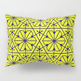 V26 Moroccan Pattern Design Yellow Carpet Moroccan Texture. Pillow Sham