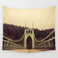 bridge Wall Tapestries featuring Bridge by Photo list