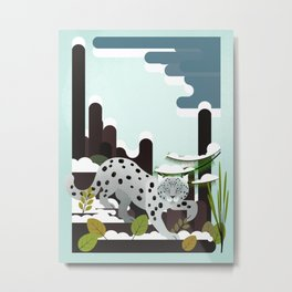 Snow Leopard - Made for the Mountains Metal Print