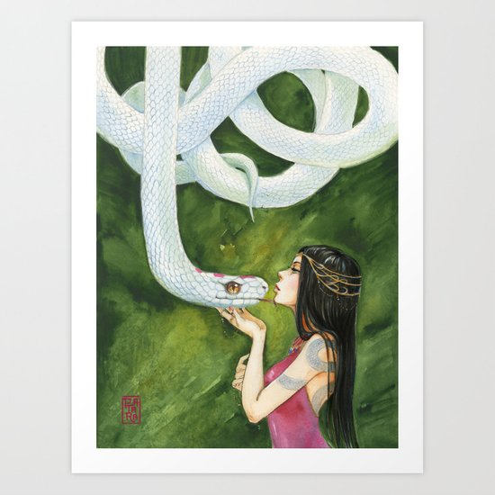 The White Snake Art Print