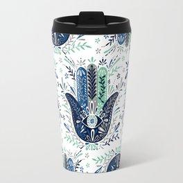 Hamsa Hand – Navy Palette Travel Mug