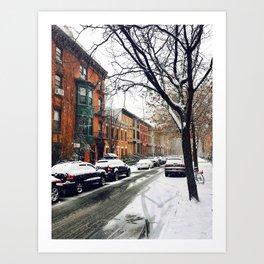 Brooklyn New York City Snow Showers Art Print