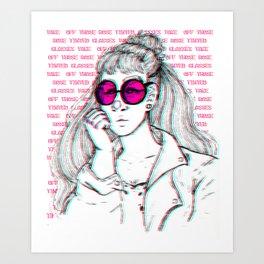 Rose Coloured glasses Art Print