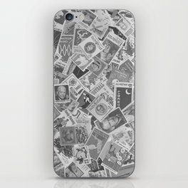 Vintage Postage Stamp Collection - 01 (BxW) iPhone Skin