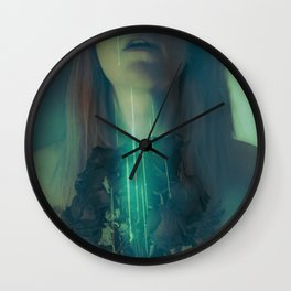 A Fawn's Dark Eyelids II Wall Clock