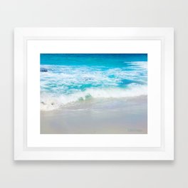 Jervis Bay Surf Framed Art Print
