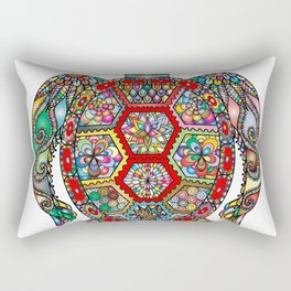 Colorful Sea Turtle Abstract Mandala Rectangular Pillow