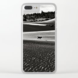 Walking alone through the desert of life Clear iPhone Case