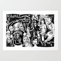 sons of anarchy Art Prints featuring sons of anarchy by Jamie Clayton