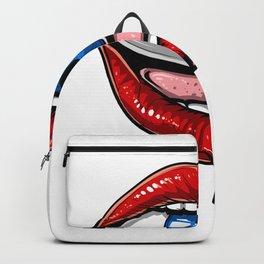 Psychedelic Eye Lips Backpack