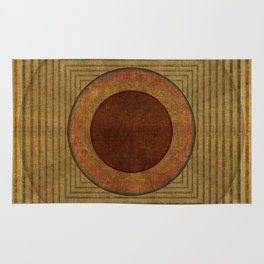 """Golden Circle Japanese Vintage"" Rug"