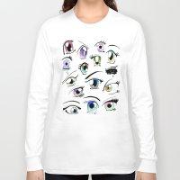manga Long Sleeve T-shirts featuring Manga Eyes by TAEMI.