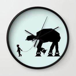 A Boy and His AT-AT Wall Clock