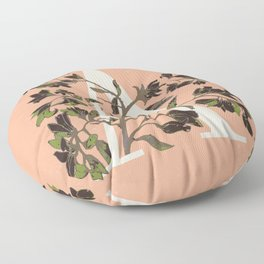 Letter A for Amelanchier Floor Pillow