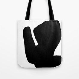 Nude silhouette figure - Nude black 001 Tote Bag
