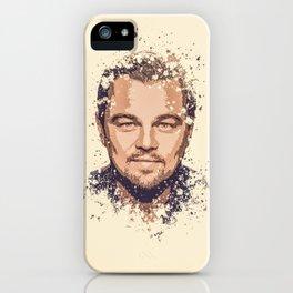 Leonardo DiCaprio splatter painting iPhone Case