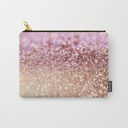Mermaid Rose Gold Blush Glitter Carry-All Pouch