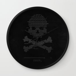 Loading Game over 8bit glitch Wall Clock