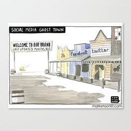 Social Media Ghost Town Canvas Print