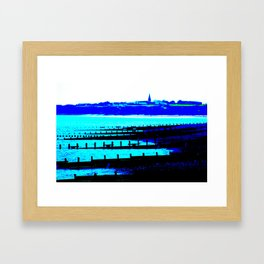 Sea View At Hornsea Framed Art Print