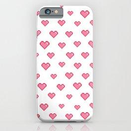 Pixel Heart Pattern  iPhone Case