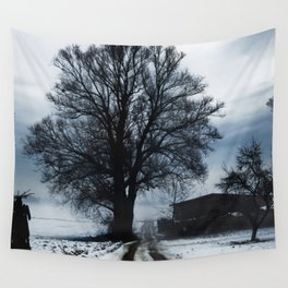 Foggy winter day I Wall Tapestry