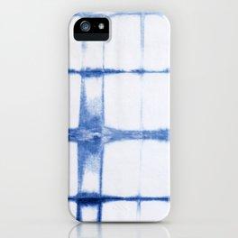 Shibori Blue - Rectangles iPhone Case