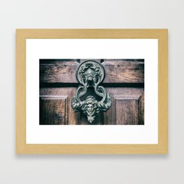 old door with a latch Framed Art Print