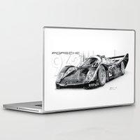 porsche Laptop & iPad Skins featuring Porsche 962 by sesven