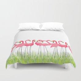 Cuban Pink Flamingos Bettbezug