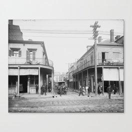 Madison Street, New Orleans, Louisiana 1906 Canvas Print