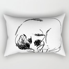 sleeping kitty Rectangular Pillow