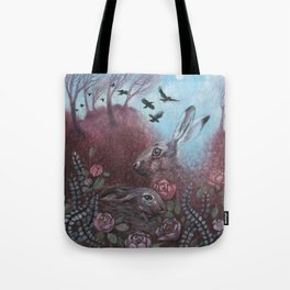 Hares and Crows Tote Bag