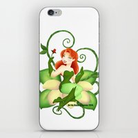 poison ivy iPhone & iPod Skins featuring Poison Ivy  by Katie Simpson a.k.a. Redhead-K