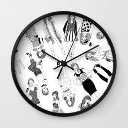 Group of High Street Girls Wall Clock